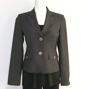 Sandra Angelozzi Black Blazer Jacket, Size 32